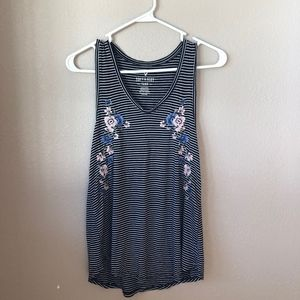 American Eagle Striped Floral Tank